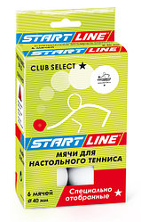 CLUB SELECT 1* (6 мячей в упаковке, белые)