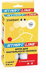 STANDART 2* (6 мячей в упаковке, белые)