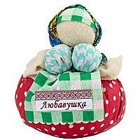 "Обереговая кукла ""Любавушка"", h-14,5см, текстиль"