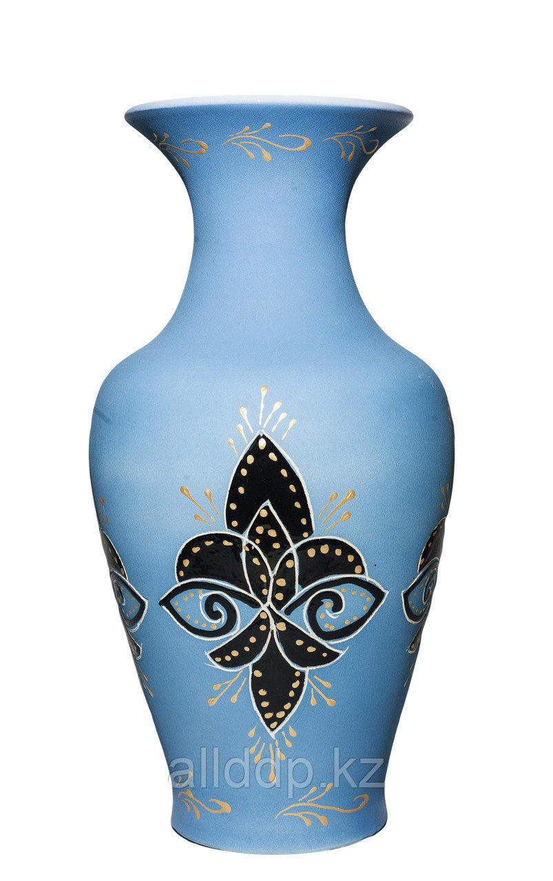 """Настольная ваза """"Титан"""" (голубая), 40 см"""