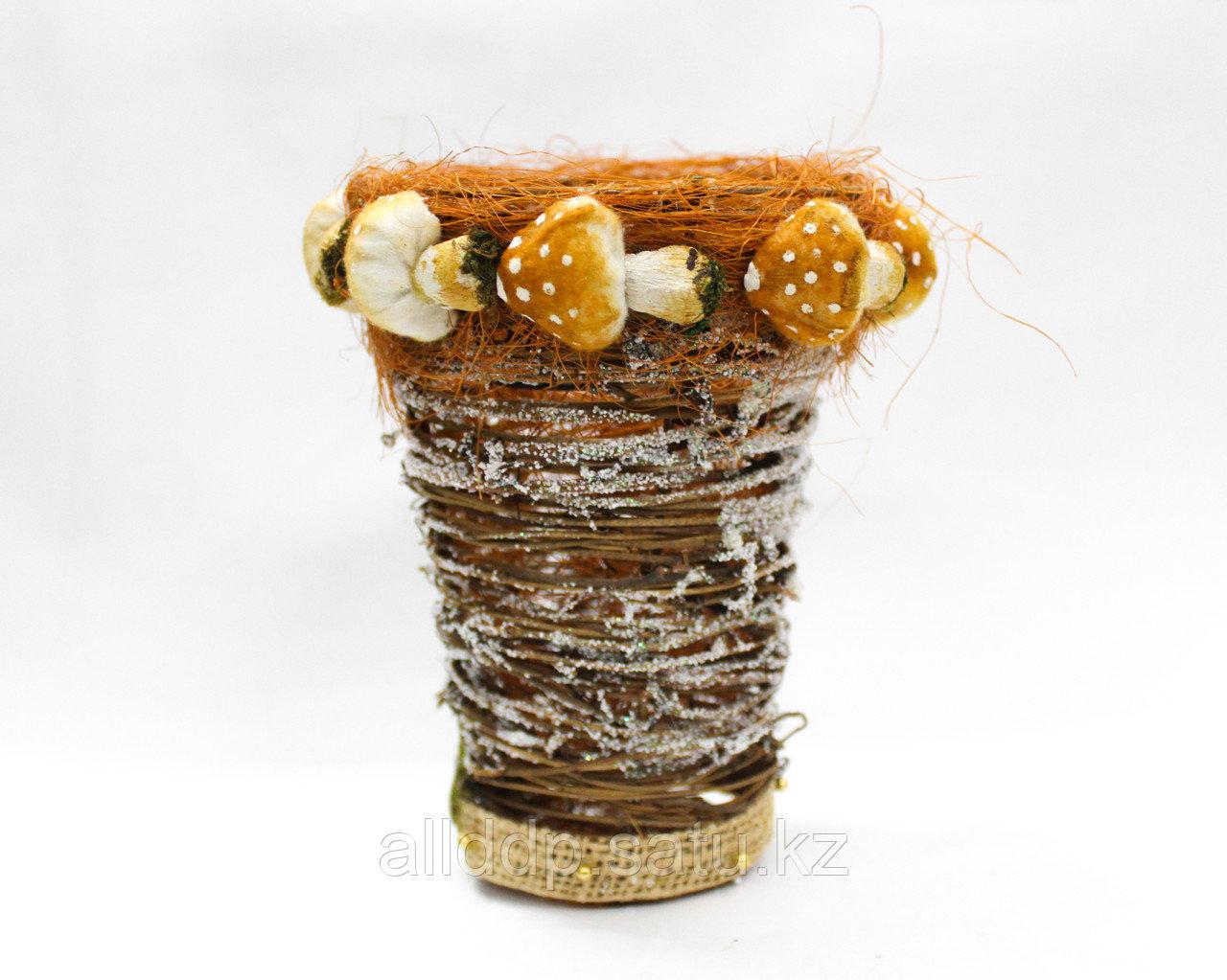 Настольная плетеная ваза, 18 см