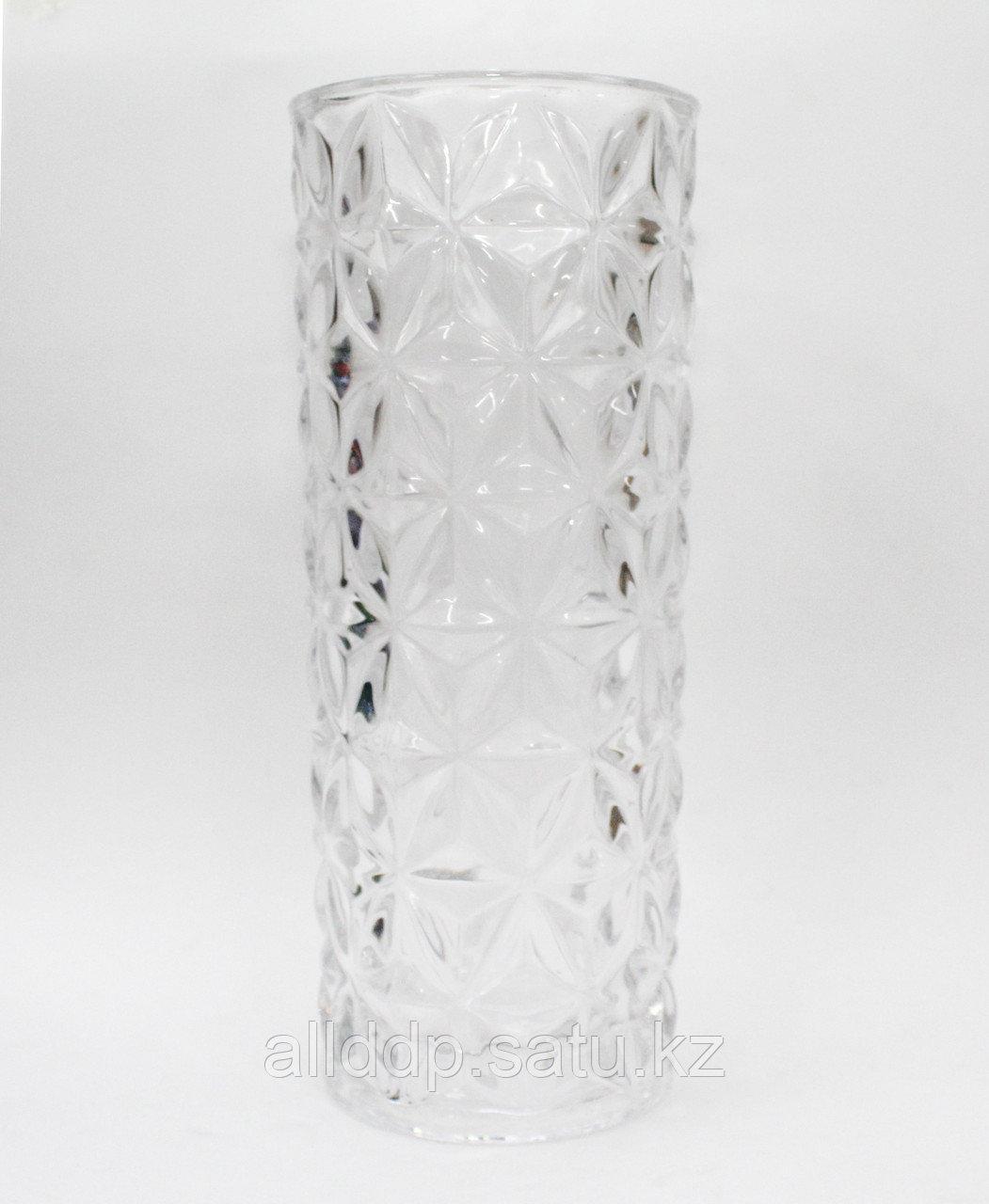 Настольная стеклянная ваза, 25 см