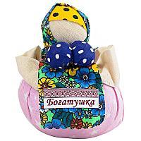 "Обереговая кукла ""Богатушка"", h-14,5см, текстиль"