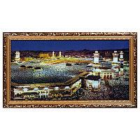 """Картина в багете с подсветкой """"Мечеть Аль-Харам"""", 39*69см, багет/стекло/пластик"""