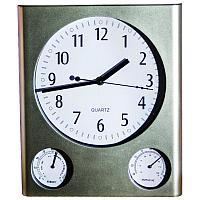 """Часы настенные """"Верность"""" с термометром и гигрометром, 29.5х25см, пластик"""
