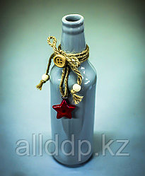Бутылка декоративная (керамика, серая),5х19,5см