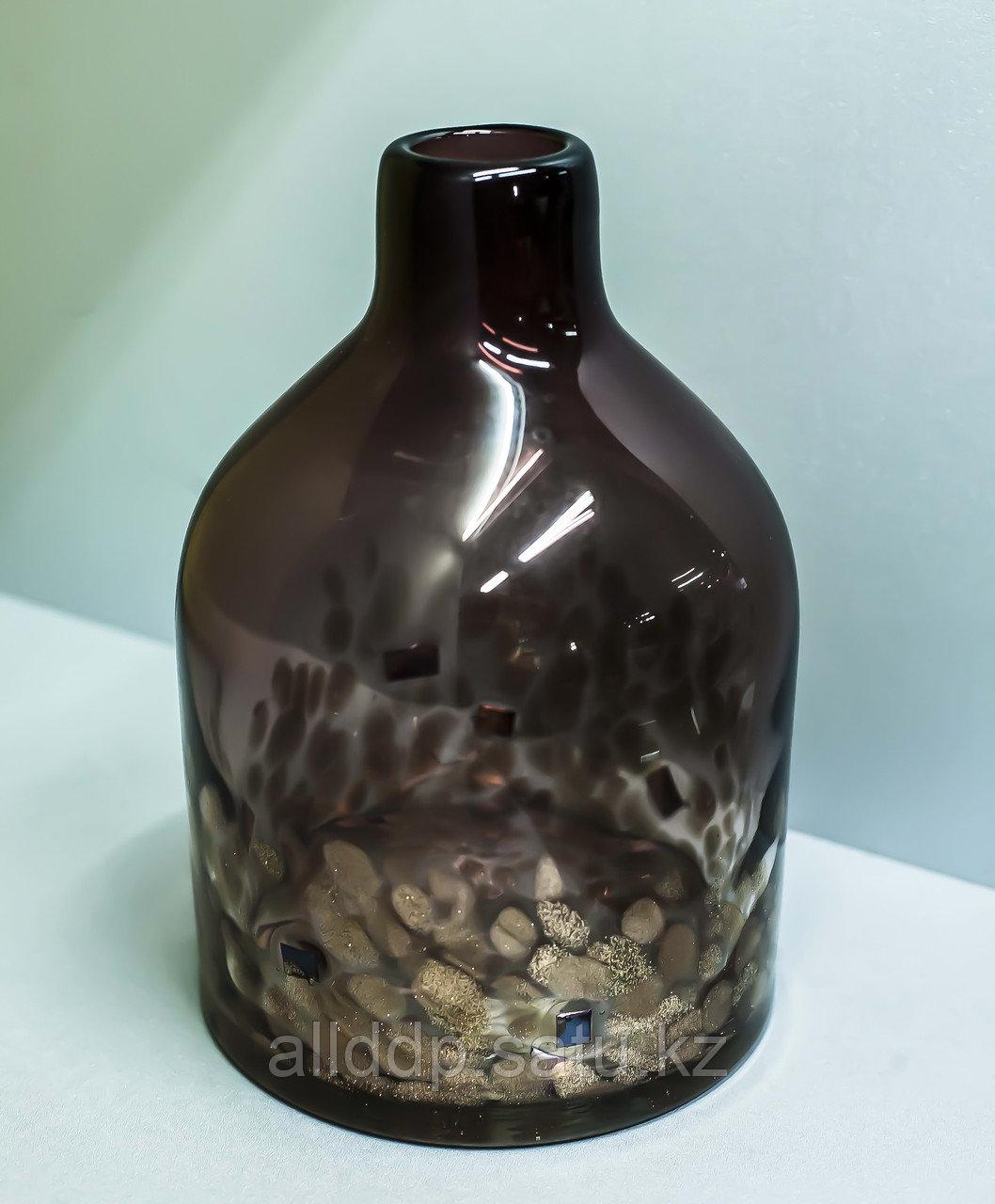 """Декоративная настольная ваза """"Морской риф"""" (стекло, коричневая),25см"""