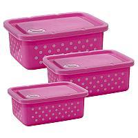 Набор пищевых контейнеров, 3 шт, 19*14см, пластик
