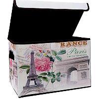 """Короб для хранения вещей """"Франция"""", 38*25*25см, текстиль/дерево"""