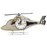 Часы настольные вертолёт (пластик)
