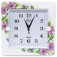 "Часы настенные ""Розовые цветы"", 26*26см, пластик"