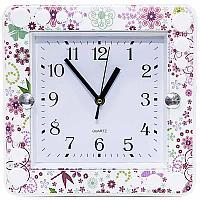 "Часы настенные ""Бабочки"", 26*26см, пластик"
