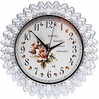 """Часы настенные """"Розы"""", 32*32см, пластик"""
