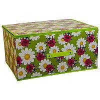 "Короб для хранения с крышкой 50х40х25 см ""Божьи коровки"", картон"