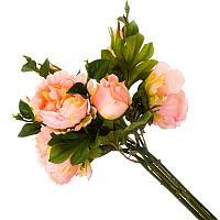 Цветы искусственные, букет 9 пионов, пластик h-45см