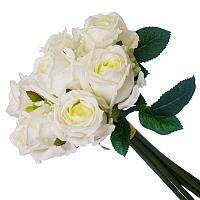 Цветы искусственные, букет 7 роз, пластик h-35см