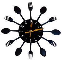 """Часы настенные """"Столовые приборы"""", d=29см , пластик"""
