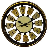 """Часы настенные """"Ролла"""", золотые, d=30 см , пластик"""