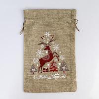 Новогодний мешок для подарков, с термонаклейкой «Счастливого Нового года!», 20×30см, текстиль