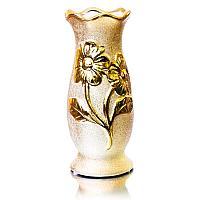 Ваза настольная с цветами h-20 см,цвет золото, фарфор