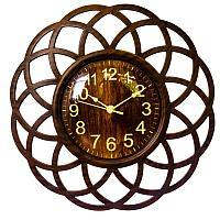 """Часы настенные, """"Секвойя"""" 25х25 см ,ажурные , пластик 3620740"""