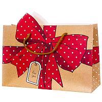 Пакет подарочный «Подарок», 30 × 23 × 10 см , картон