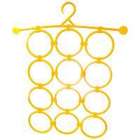 Вешалка для галстуков и шарфов 36.5х37см, 12 колец, пластик