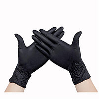 Набор черных перчаток, 50 шт