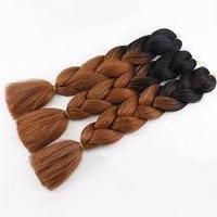 Канекалон черный-каштановый 65 см, косы для плетения
