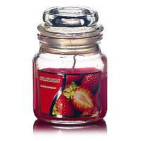 Свеча ароматическая , 6*8,5 см, клубника, стекло, воск