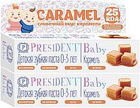 Зубная паста President детская Baby 30 мл карамель 0-3 л