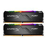 Память оперативная DDR4 Desktop HyperX Fury HX430C15FB3AK2/16, 16GB, RGB