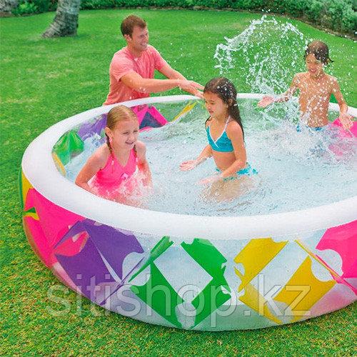 Семейный надувной бассейн Pinwheel 229х56 см, Intex 56494
