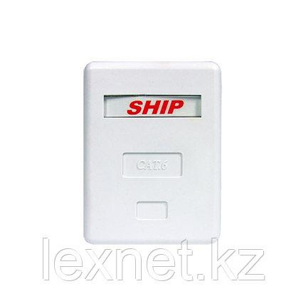 Розетка Настенная телекоммуникационная 1 Модуль SHIP A184-1, фото 2