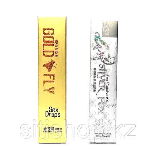 Женский возбудитель Шпанская мушка + Серебряная лиса (Spanish Gold Fly + Silver Fox ) 1 шт.