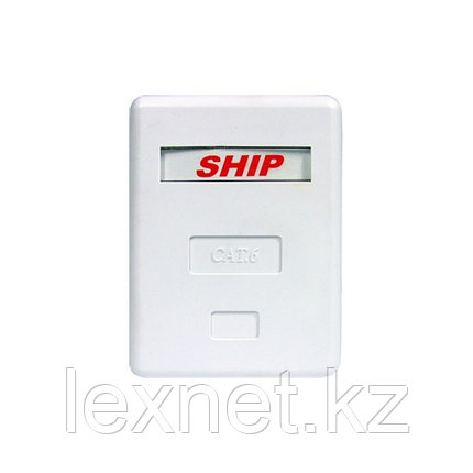 Розетка Настенная телекоммуникационная 1 Модуль SHIP A185-1, фото 2