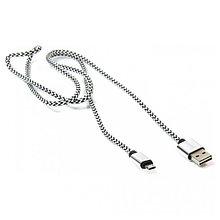 PowerPlant CA910212 Кабель USB 2.0 AM/Micro B, двусторонний, 1м, серый