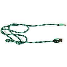 PowerPlant CA910229 Кабель USB 2.0 AM/Micro B, двусторонний, зеленый