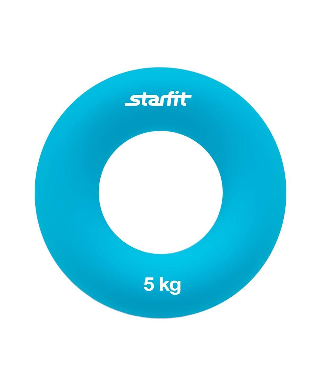 "Эспандер кистевой ES-403 ""Кольцо"", диаметр 7 см, 5 кг, голубой Starfit"