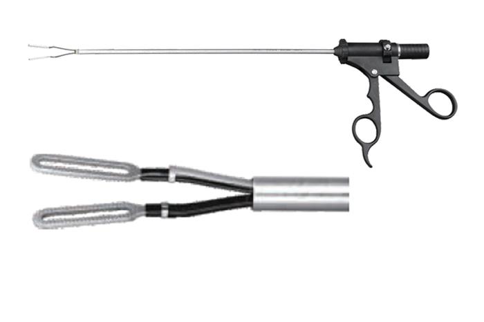 Биполярные щипцы кольцевидные Ø5mm×330mm (для лапароскопии)