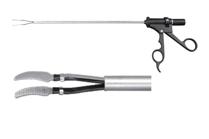 Биполярные щипцы изогнутые Ø5mm×330mm (для лапароскопии)
