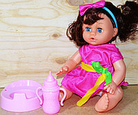 Немного помятая!!! 6668 Кукла пупс с горшком Модный ребенок, 40*20см, фото 1