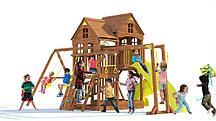 Детский игровой комплекс  Панорама с трубой, спуском и рукоходом