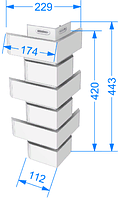 Угол Наружный FLEMISH Дёке Коричневый 443х112х174 мм