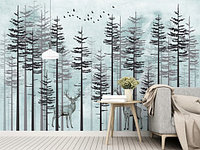 Лес с оленями