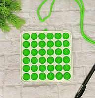 Сенсорная игрушка антистресс с пузырьками Simple Dimple (Симпл Димпл) квадрат 13 *13 см зеленый