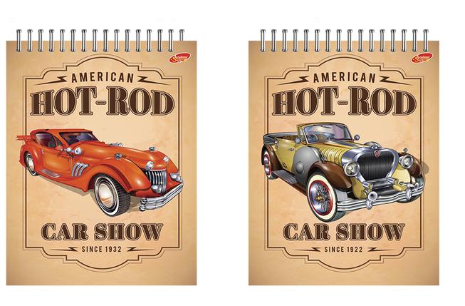 """Блокнот 40 листов Hot-Rod (ретро-авто)"""", фото 2"""