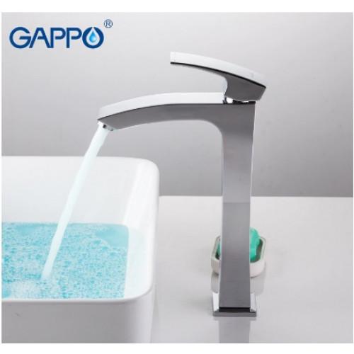 Смеситель для умывальника GAPPO 1007-11 высокий хром