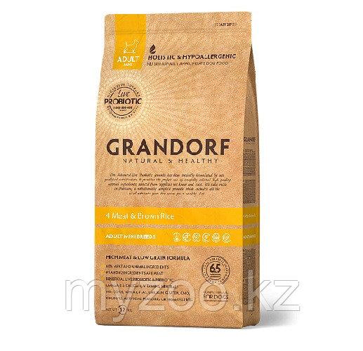 Grandorf 4мяса&рис Mini (индейка, ягненок, утка, кролик), 1 кг