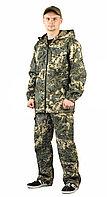 """Костюм """"ТУРИСТ 2"""" куртка/брюки цвет: кмф """"Сетка серый"""", ткань: Твил Пич"""